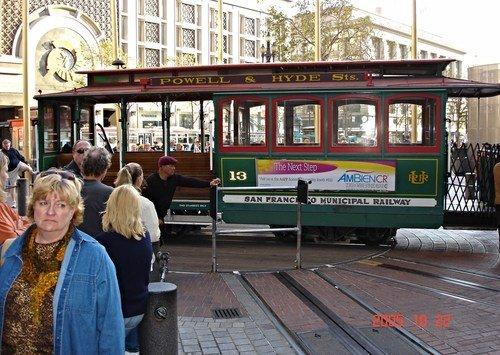 Сан-Фрациско. Кабельный трамвай на конечной.
