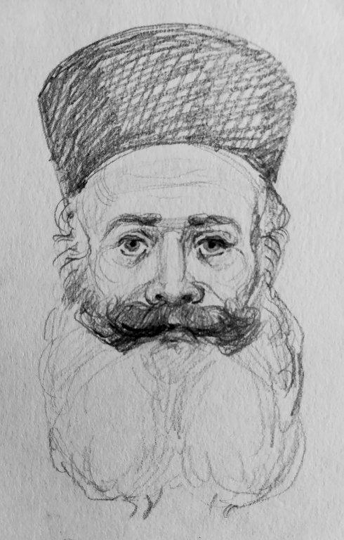 Священномученик Филумен Святогробец. Портрет работы Наталии Пискуновой.