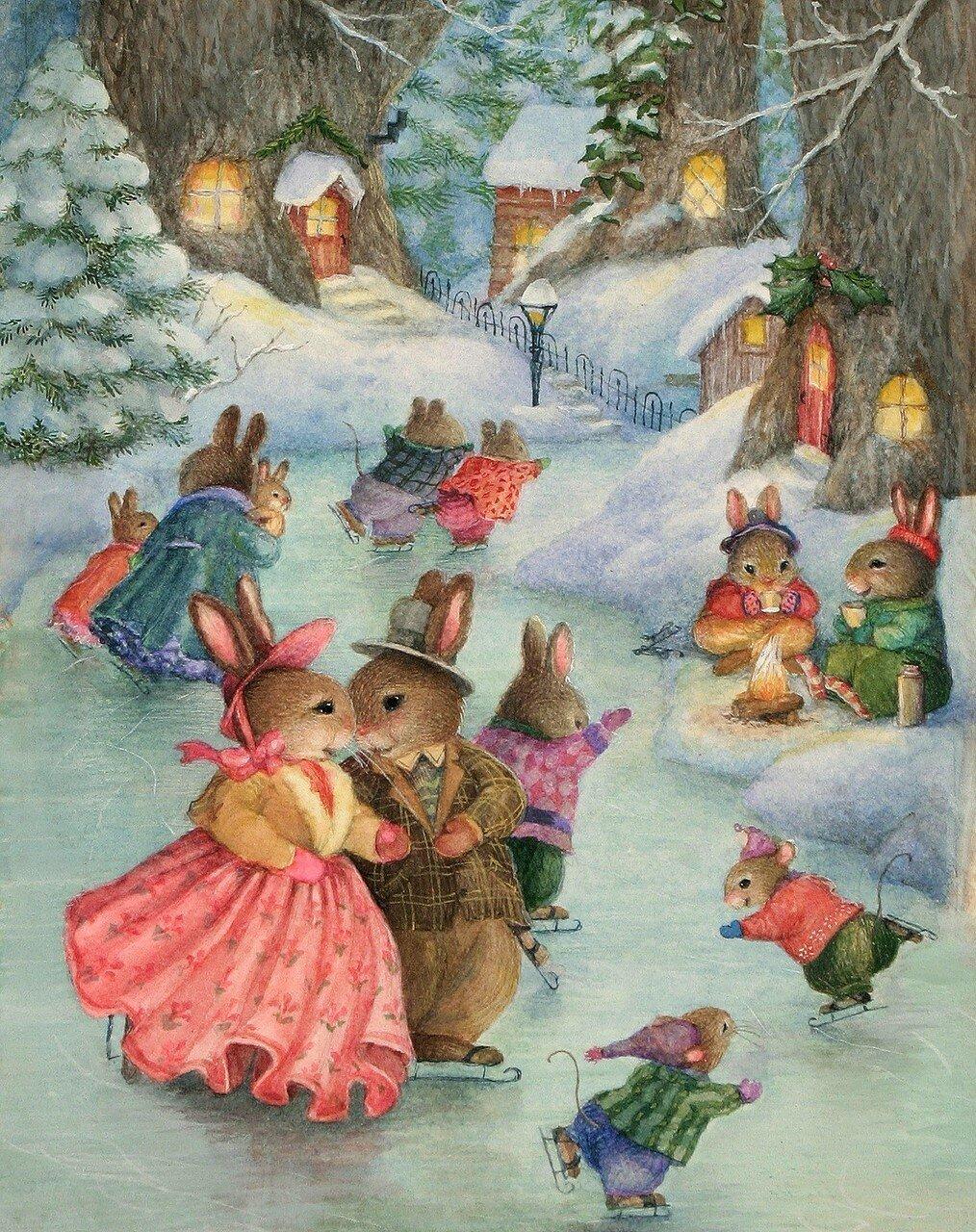 Открытки, зимние детские открытки