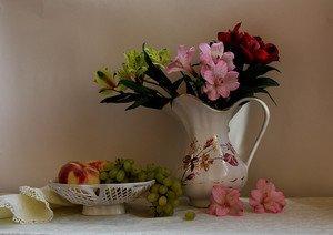 букет и фрукты