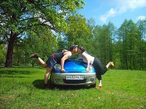 Поцелуй через машину