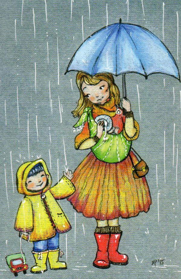 картинки с праздником день прогулок под дождем города совсем