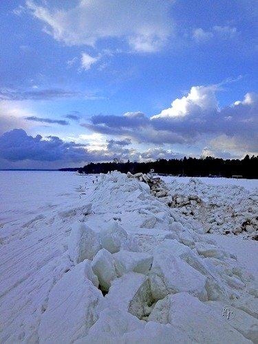 Торосы Финского залива март 2019