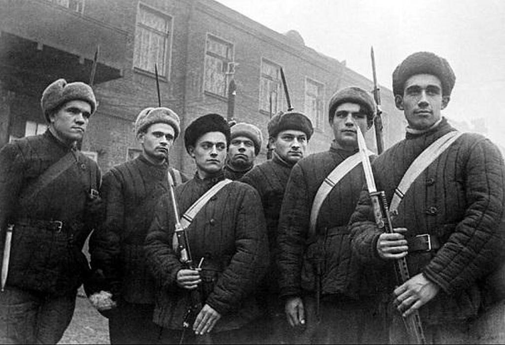 Бойцы сводного отряда.