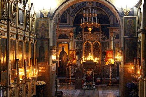Интерьер Троицкой церкви на Воробьевых горах