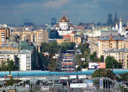 Собор Рождества Христова в панораме Москвы