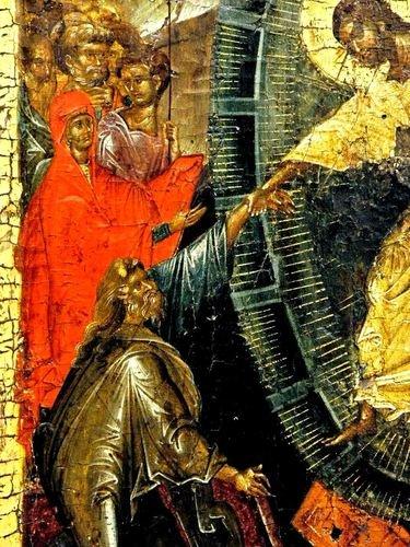 Сошествие во ад. Византийская икона начала XIV века. Галерея икон в Охриде, Македония.