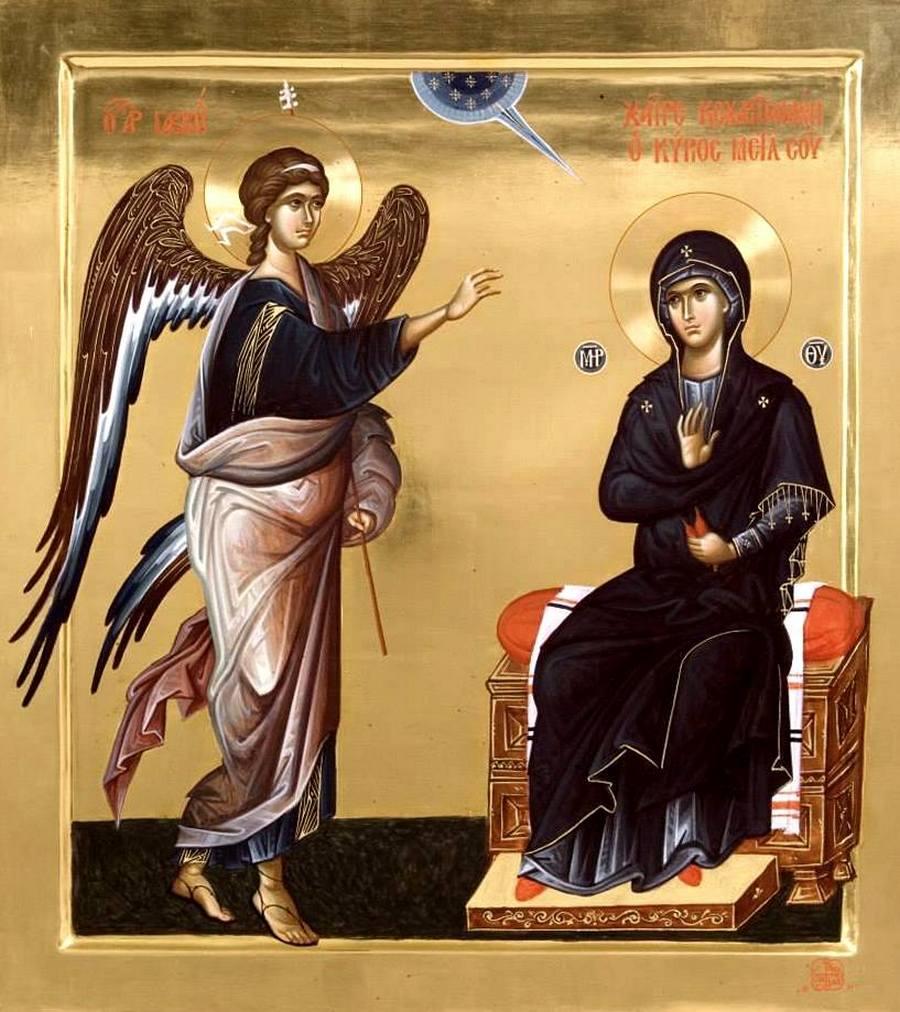 Благовещение Пресвятой Богородицы. Современная икона.