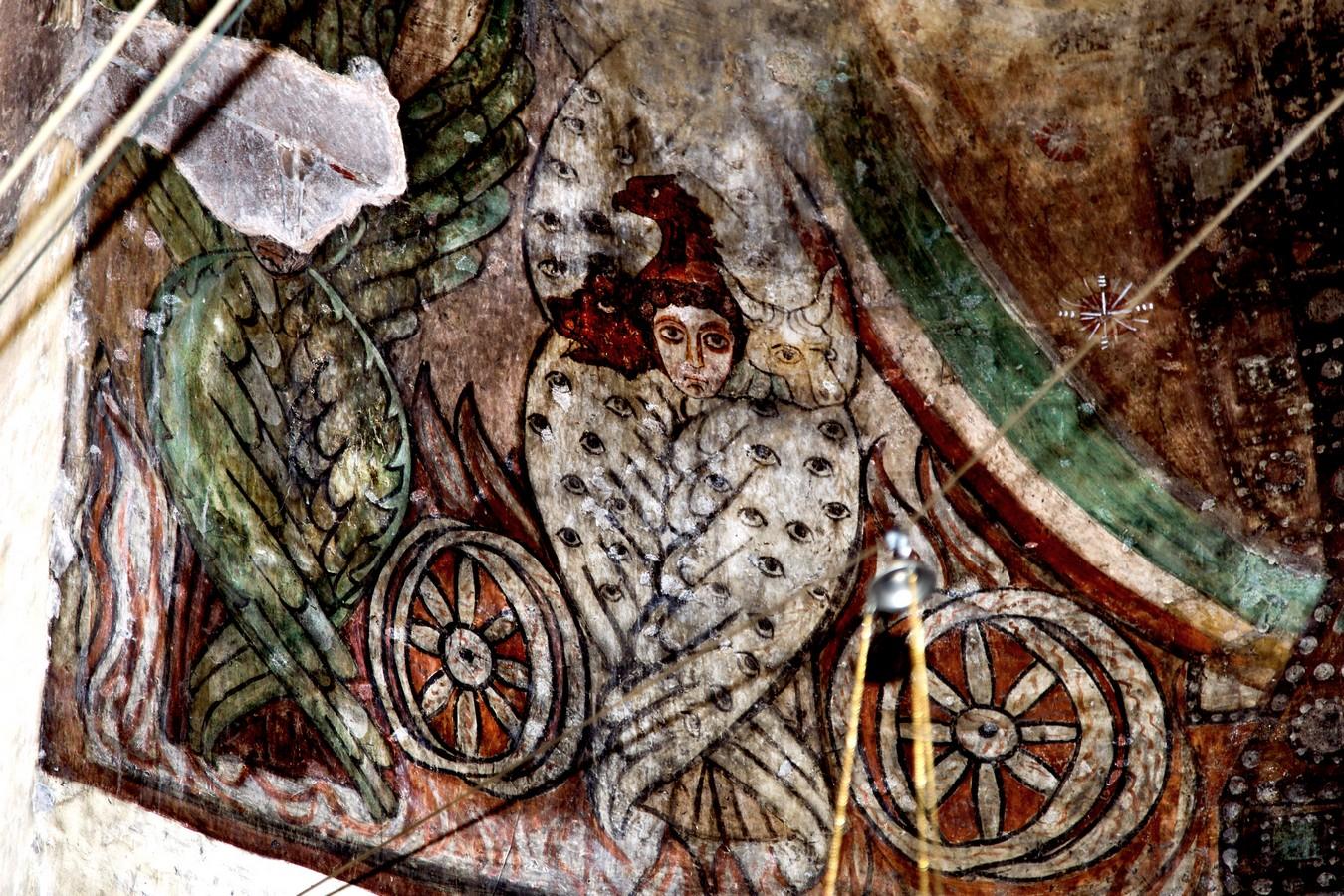 Тетраморф. Фреска церкви Святого Стефана монастыря Лмбат, Армения. VII век.