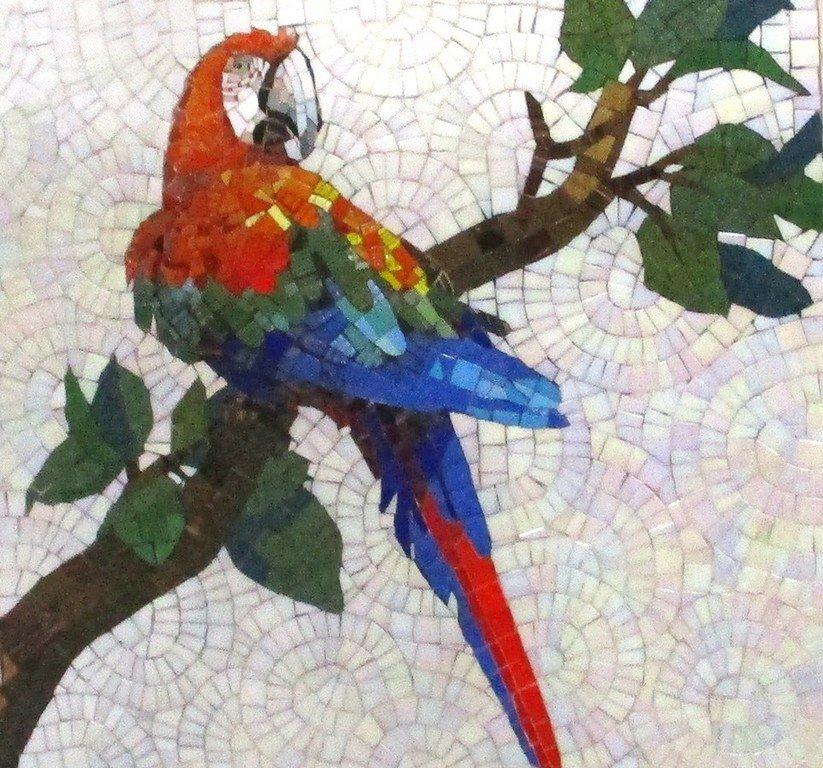 Попугай ара. Мозаика.