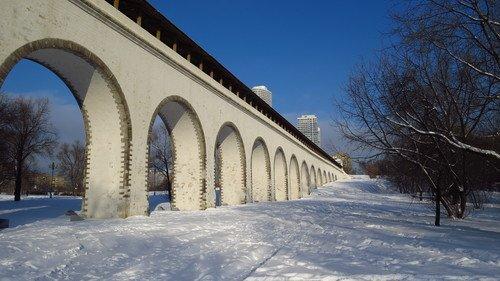 Ростокинский акведук зимой