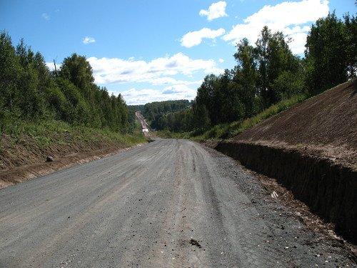 Дорога ещё строится