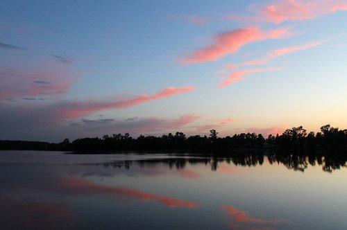 закат,озеро