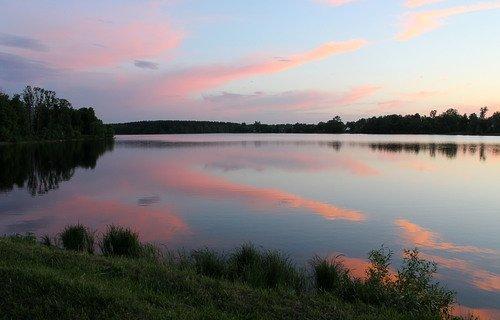 вечер ,озеро
