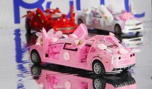 Розовый лимузин игрушечный