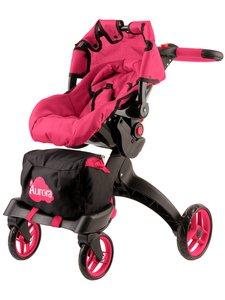 Коляска для кукол Aurora спокойно-розовый цвет