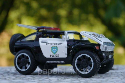 Машинка WB 1:32 Hummer полиция открываются багажник/капот