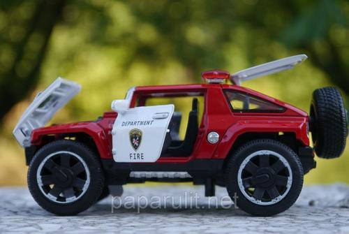 Машинка WB 1:32 Hummer пожарная