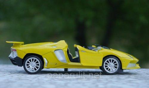 Машинка металлическая WB 1:32 Lamborghini кабриолет со звуком и светом