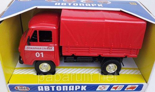 Пожарный УАЗ грузовичок-фургончик Автопарк со звуком и светом