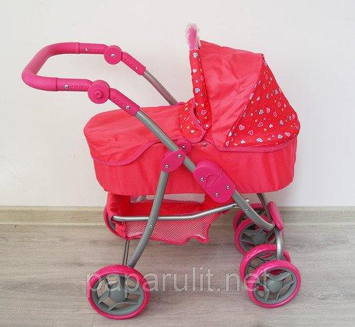 Buggy Boom Amidea 8567А Розовая с сердечками