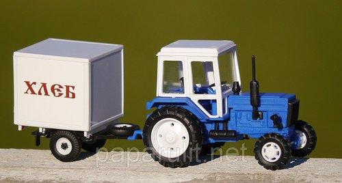 Игрушечный Трактор с прицепом Хлеб
