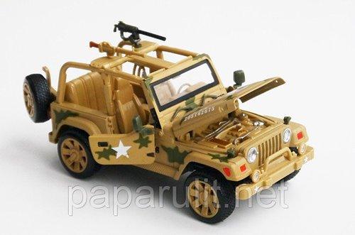 Jeep военный машинка металлическая