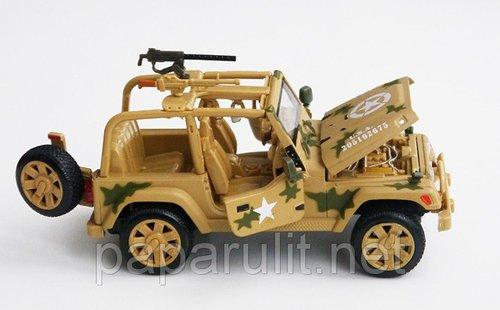 Джип военный машинка металлическая