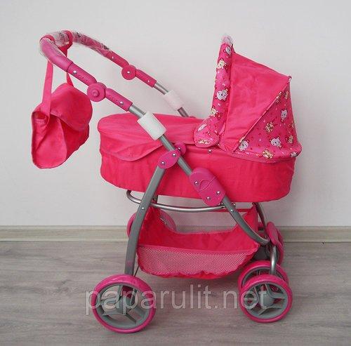 Большая коляска для кукол с сумочкой