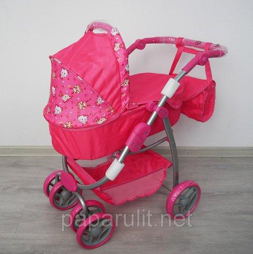 Кукольная коляска большая с сумочкой