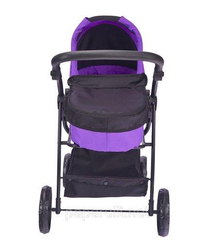 Кукольная коляска фиолетовая