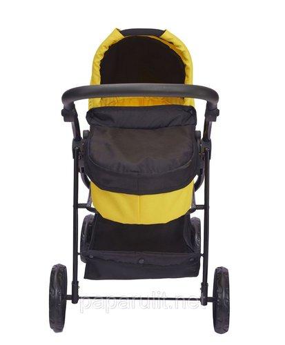 Кукольная коляска жёлтая