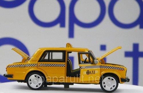 Машинка Lada 2106 такси открываются двери капот багажник фары звук