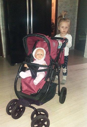 Большая коляска для кукол Buggy Boom девочка 2 года и 3 месяца для кукол