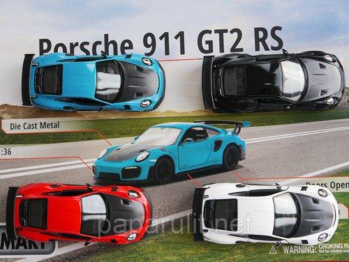 Porsche 911 GT2RS Машинка Kinsmart