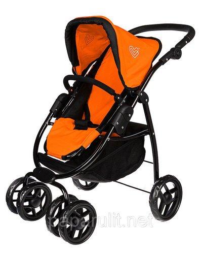 Апельсиновая игрушечная коляска с сумочкой Buggy Boom Emotion