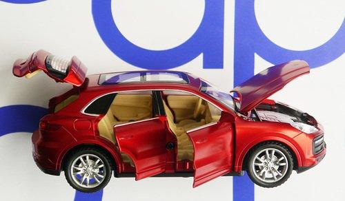 МашинкаПорш открываются двери, капот, багажник