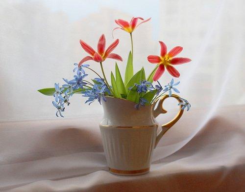 букетик весенних цветочков