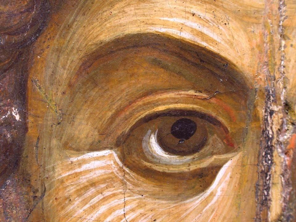 Святой Великомученик Георгий Победоносец. Византийская икона первой половины XIV века. Византийский музей в Афинах. Фрагмент.