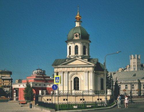 Храм-часовня Бориса и Глеба на Арбатской площади
