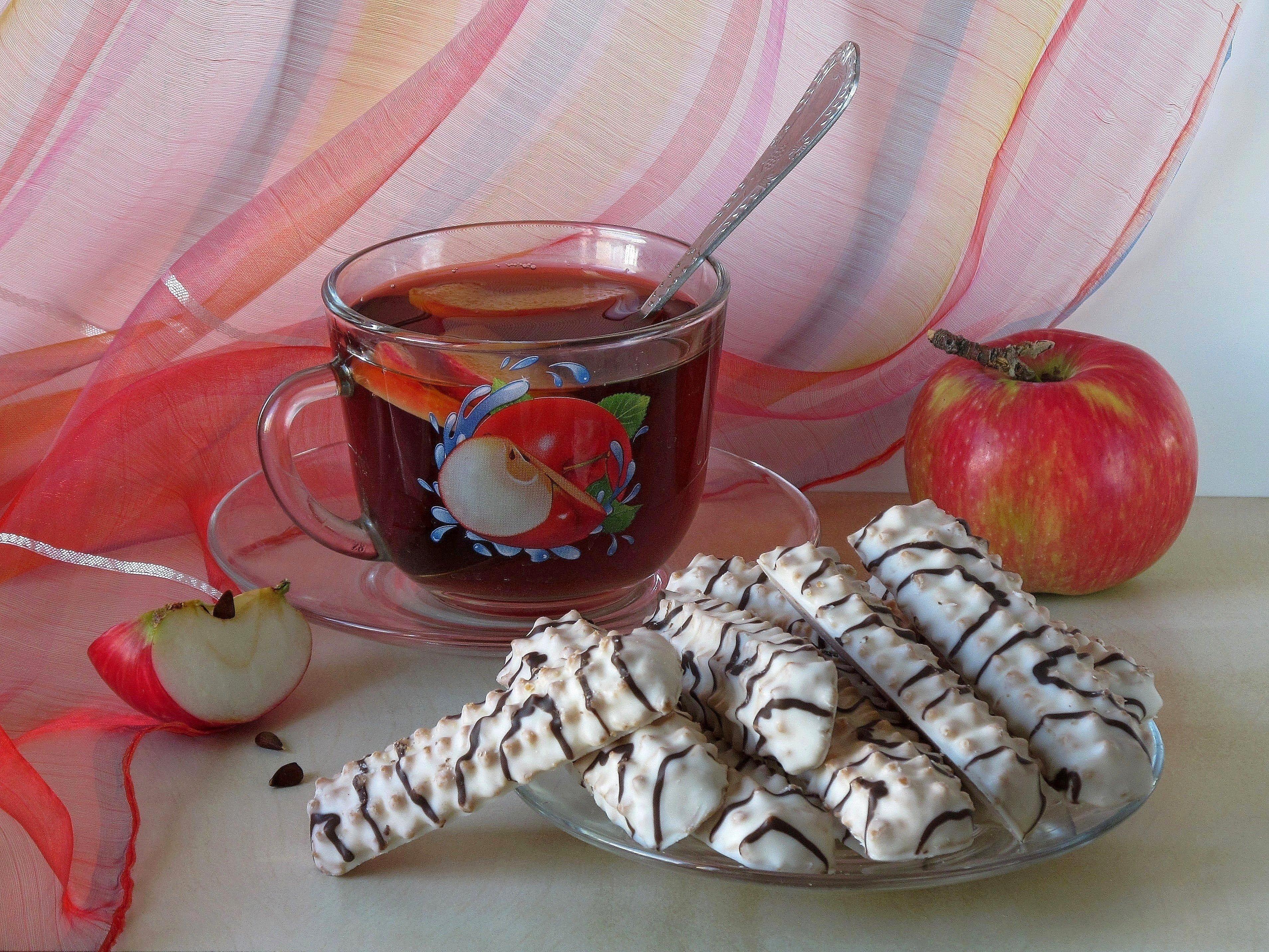 Открытка с добрым утром чай с печеньем