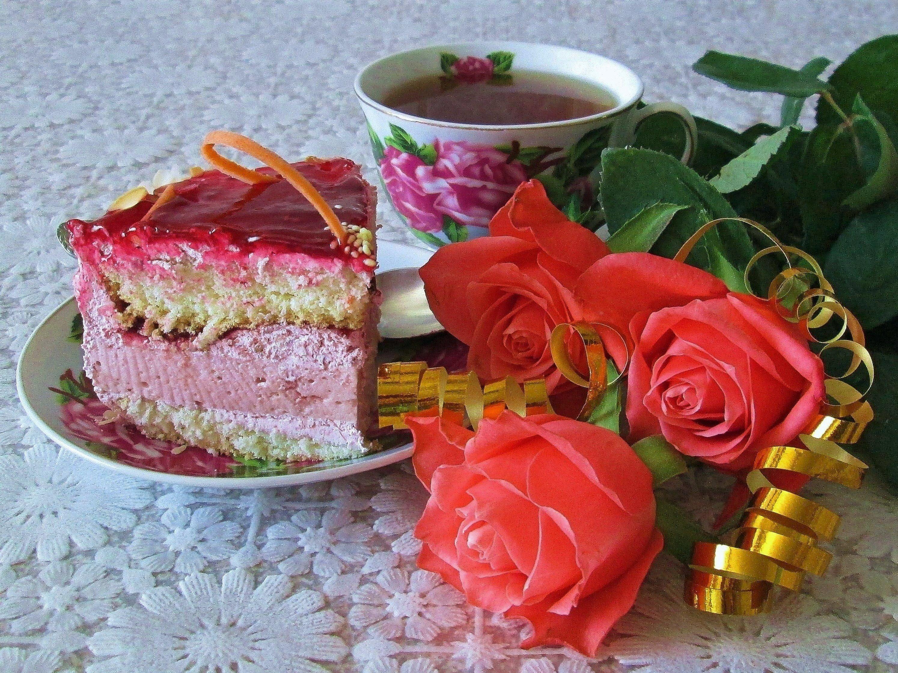 Чай с тортом картинки гифки