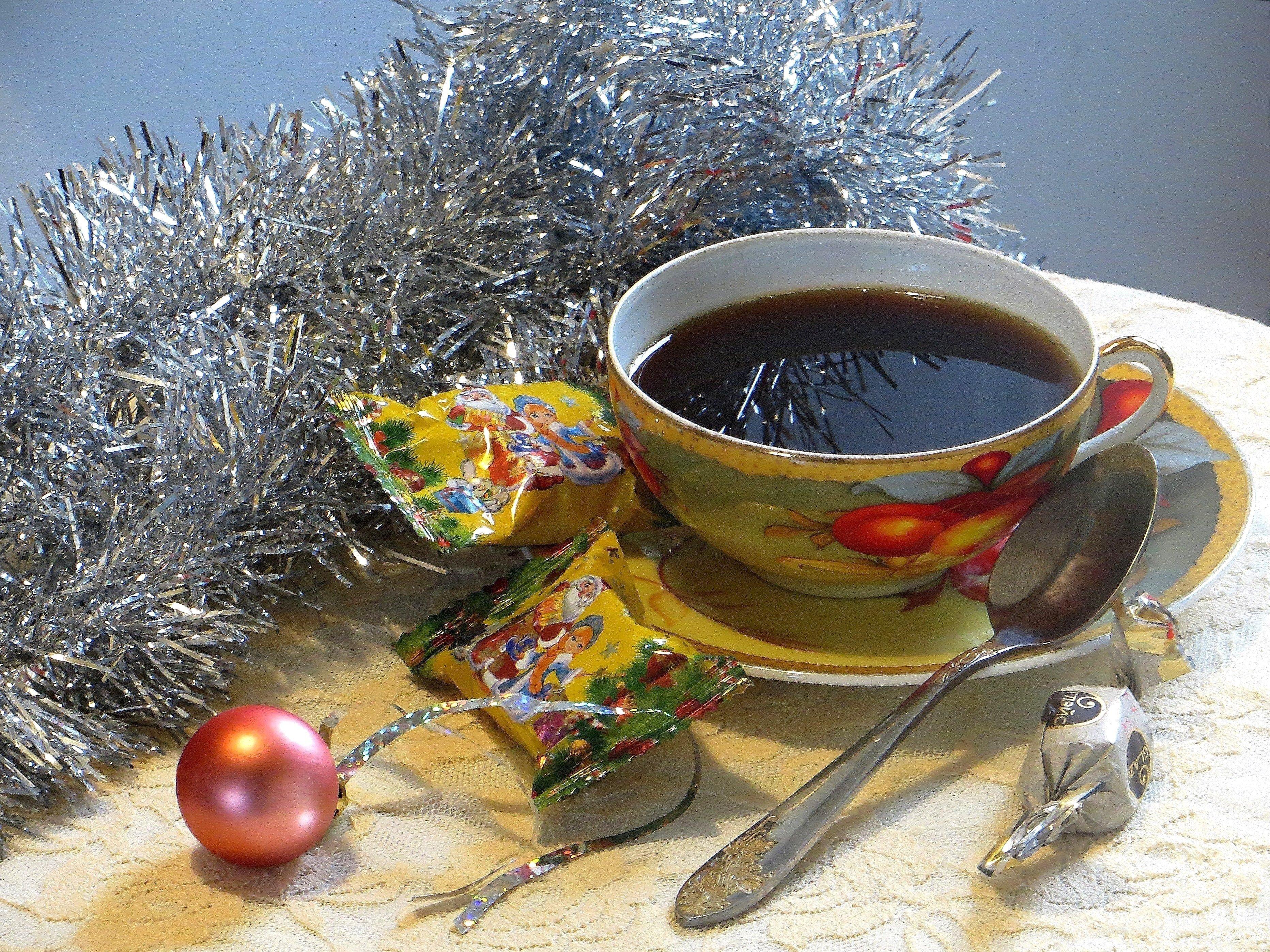 Картинки чай и кофе стол новогодний