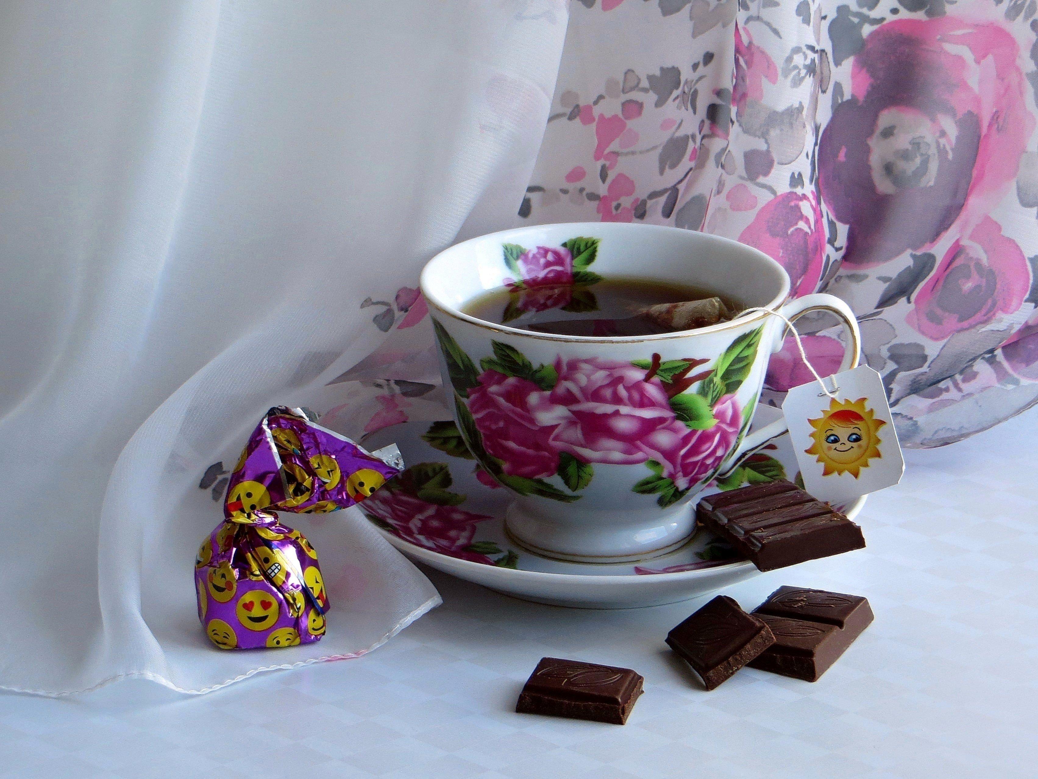 Картинки чай с конфетками