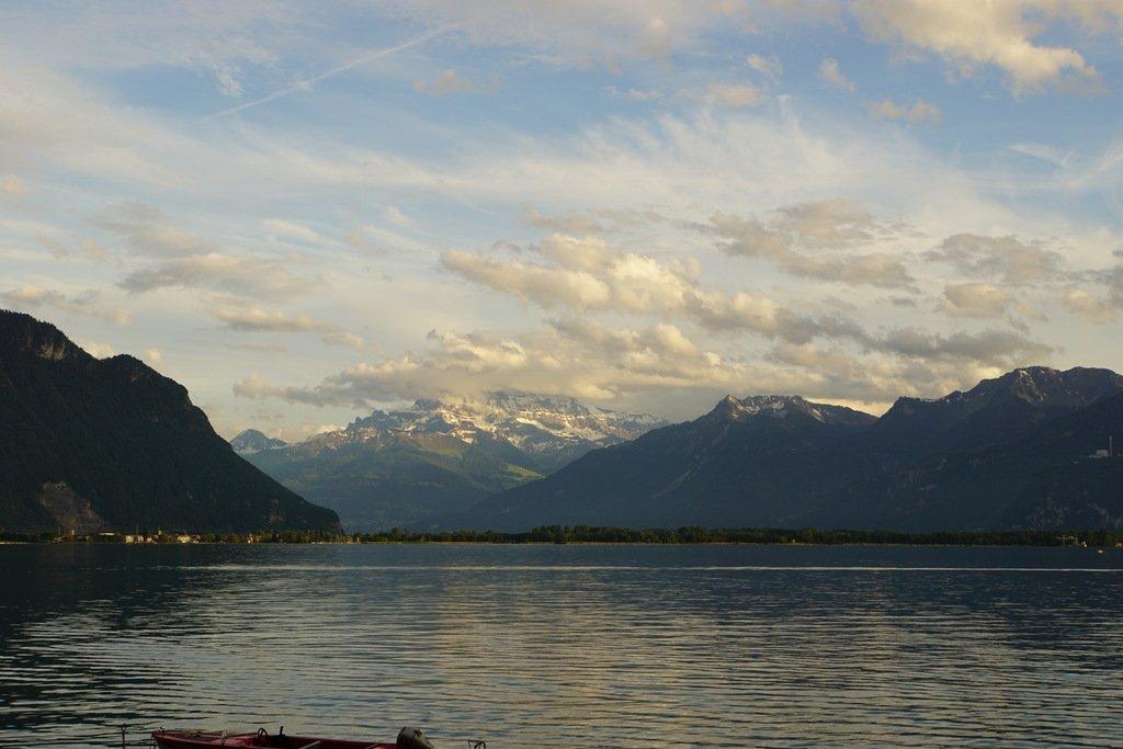 Закат над Женевским озером