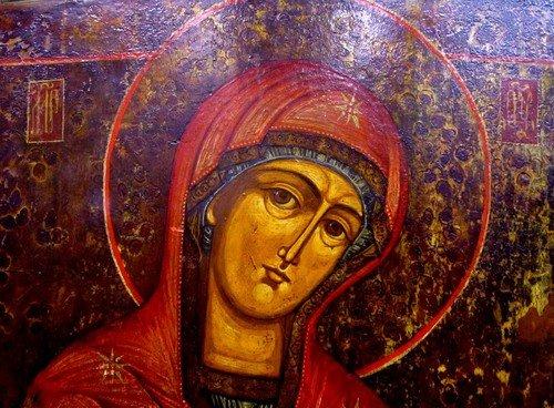 Пресвятая Богородица. Икона 19 века.