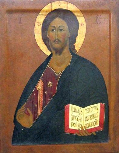 Спас Вседержитель. Икона 1912 года. Иконописец Иван Михайлович Баканов.