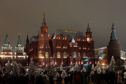 Новогодняя Манежная площадь