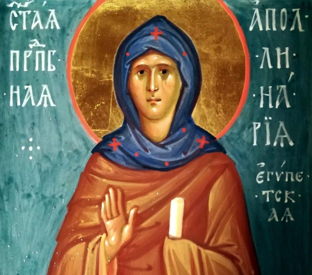 Святая Преподобная Аполлинария Египетская. Иконописец Наталия Пискунова.