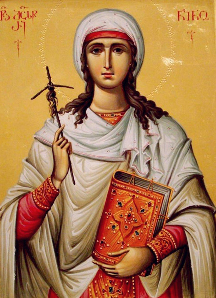 Святая Равноапостольная Нина, Просветительница Грузии. Иконописец Зураб Модебадзе.